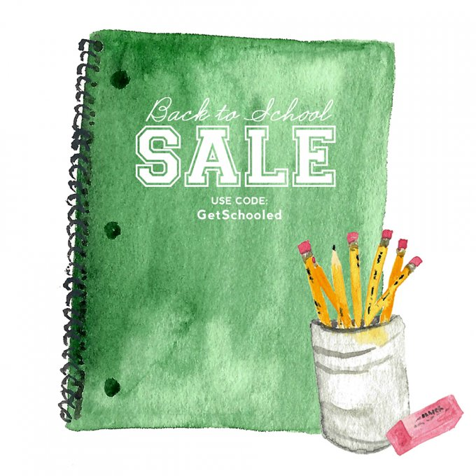 2016 Back to School Sale at Jamie Schultz Designs