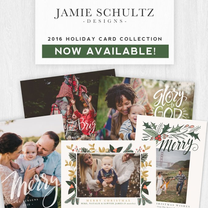 2016 Christmas Card Templates by Jamie Schultz Designs