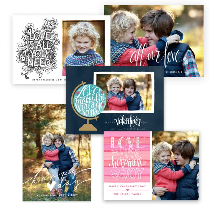 All Our Love Valentine's Day Card Templates