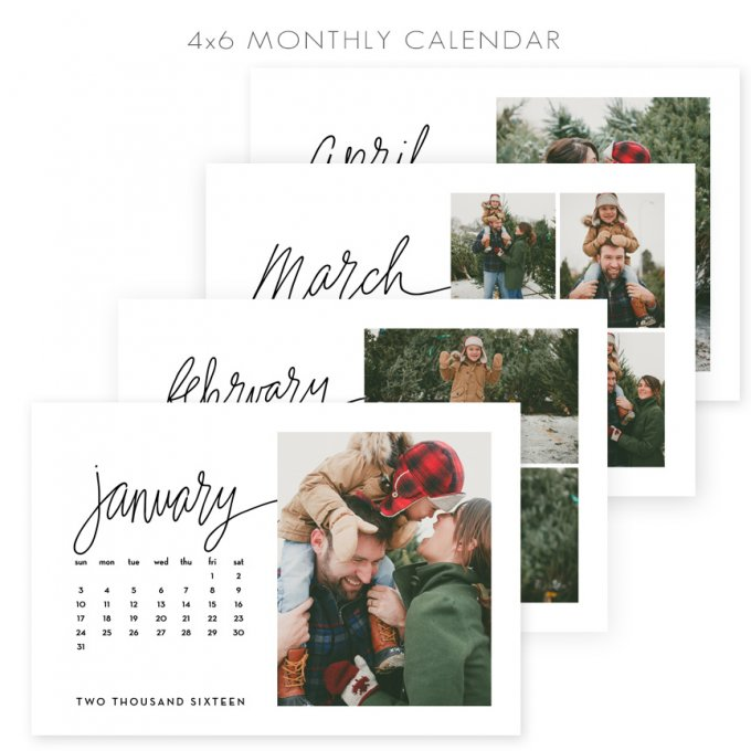 4x6 Calendar Template by Jamie Schultz Designs