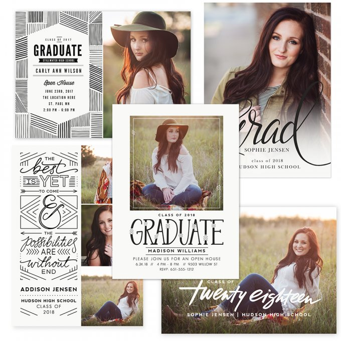 Hipster Graduation Card Templates by Jamie Schultz Designs