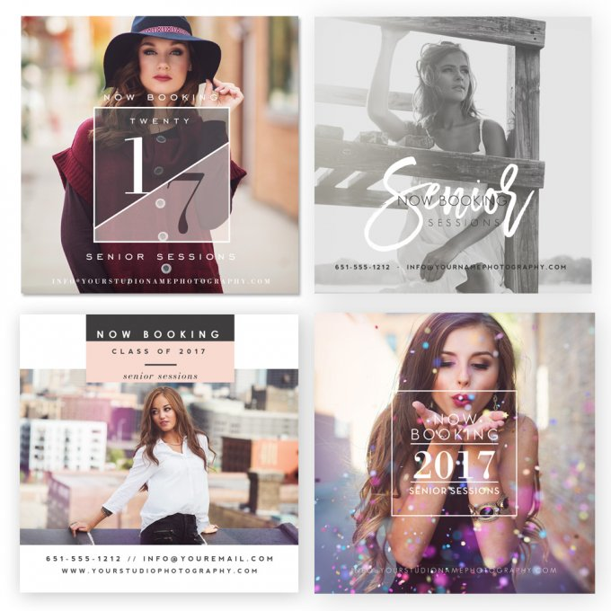Glam Grad Marketing Board Templates by Jamie Schultz Designs