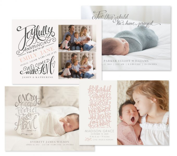 Heaven Sent Birth Announcement Templates by Jamie Schultz Designs