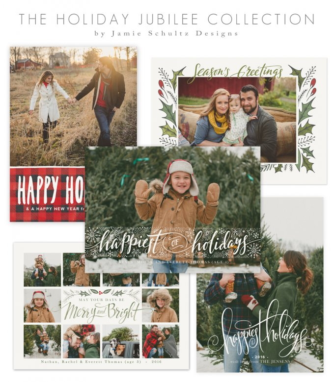Holiday Jubilee Card Templates by Jamie Schultz Designs