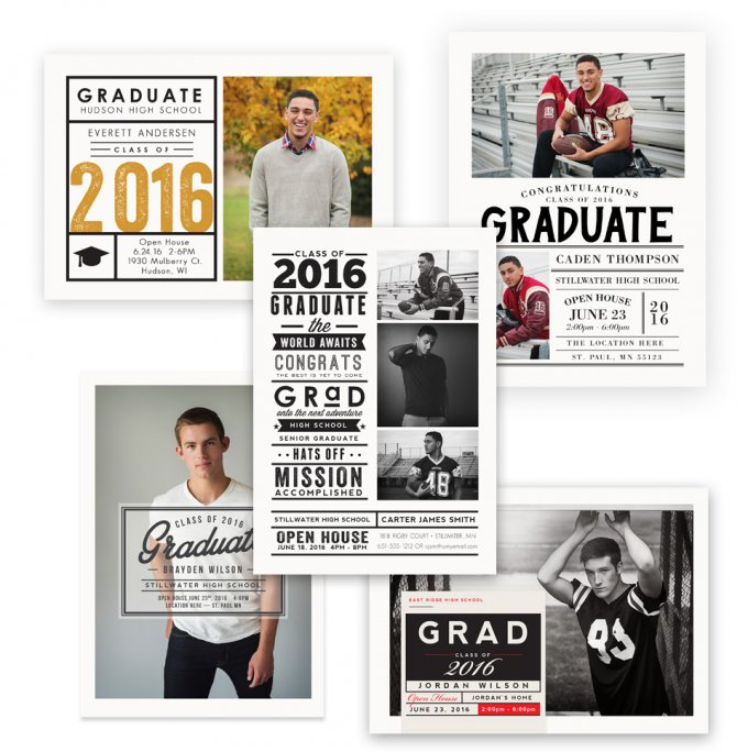 Senior Guy Grad Card Templates by Jamie Schultz Designs