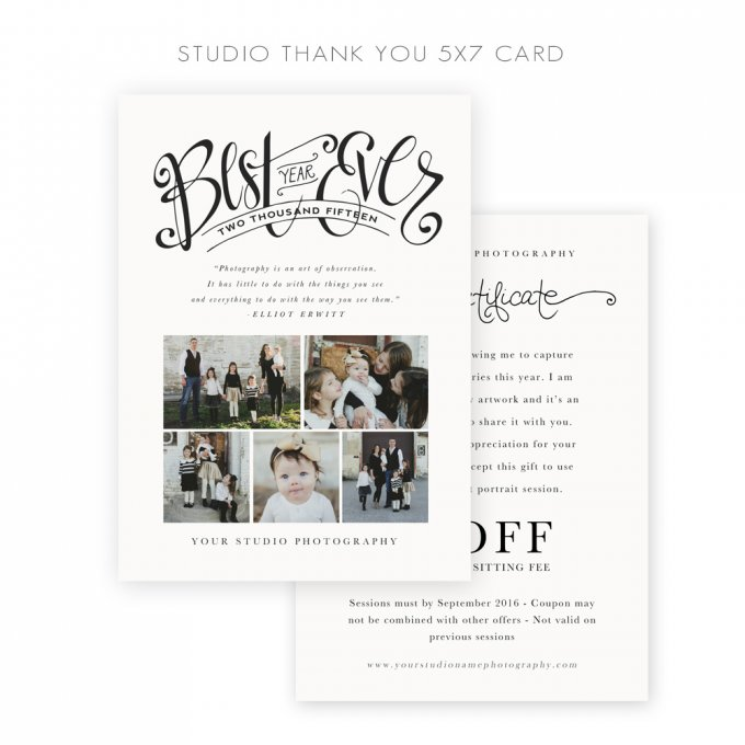 Studio Thank You Card by Jamie Schultz Designs