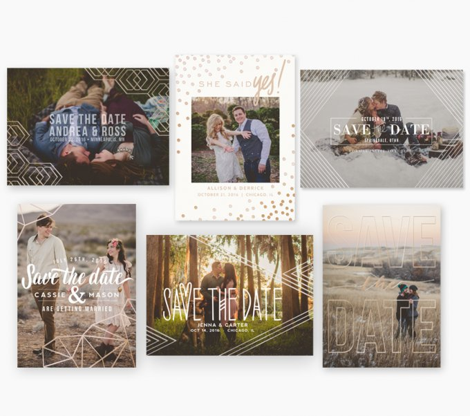 Foil Save the Date Card Templates by Jamie Schultz Designs
