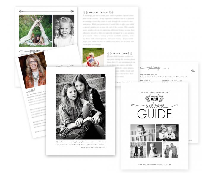Camera Welcome Guide Template by Jamie Schultz Designs