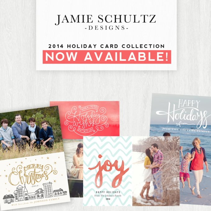 2014 Holiday Card Template Collection by Jamie Schultz Designs