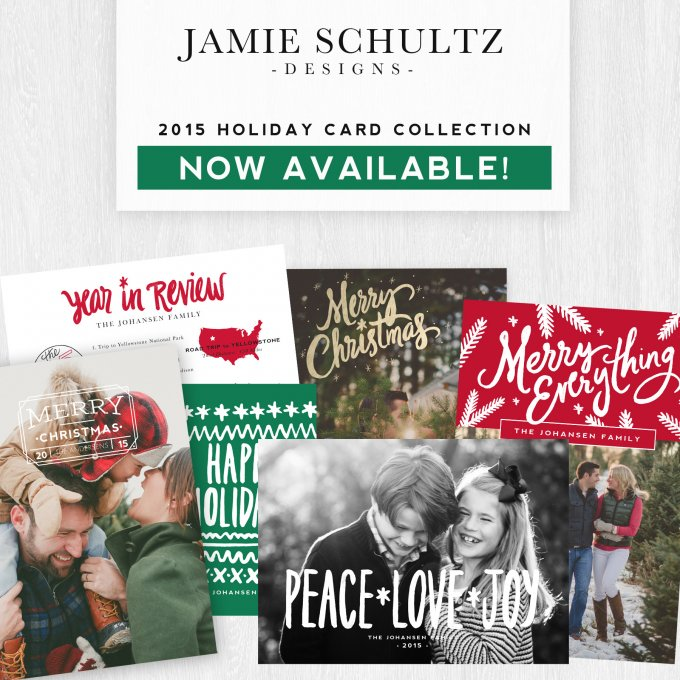 2015 Holiday Card Templates by Jamie Schultz Designs