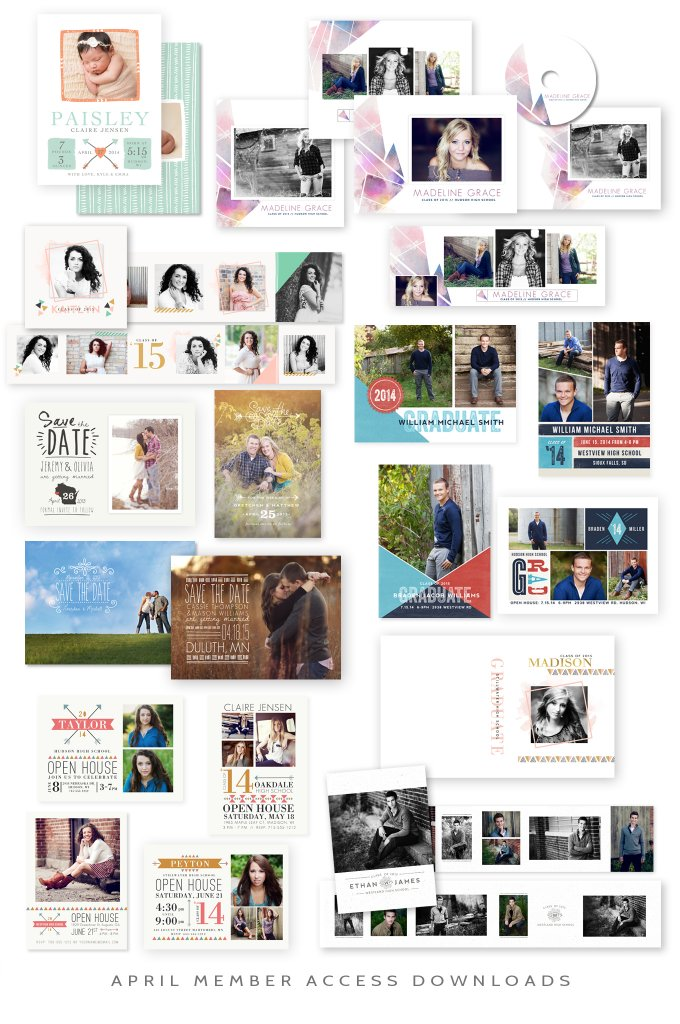 April 2014 Member Access Downloads by Jamie Schultz Designs
