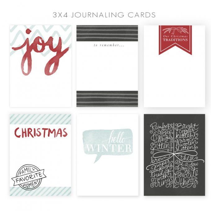 3x4 Journaling Cards by Jamie Schultz Designs