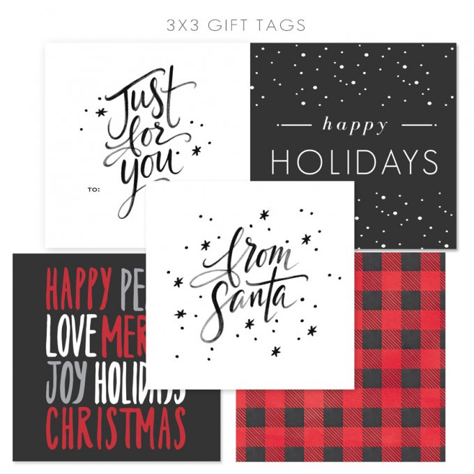 Holiday Gift Tags by Jamie Schultz Designs