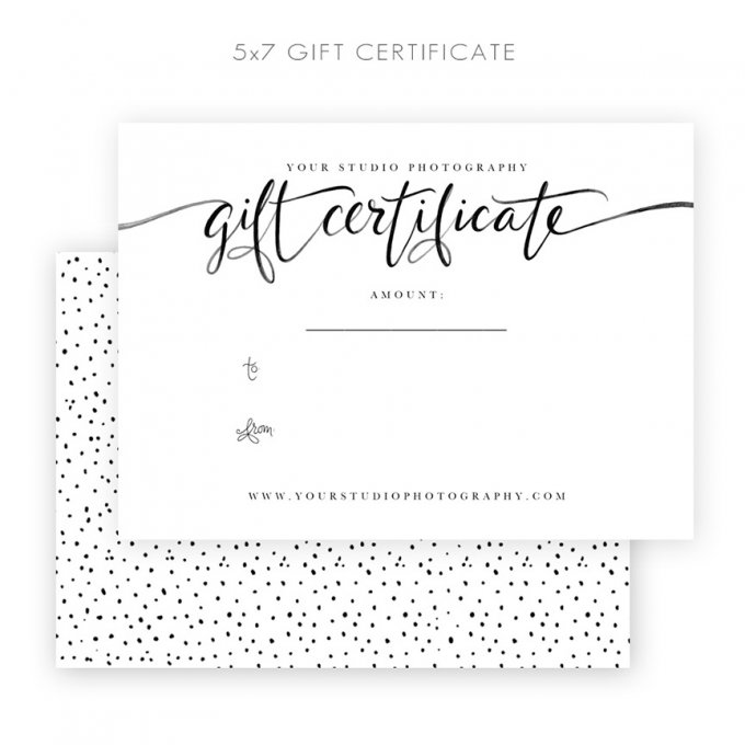 Gift Certificate Template by Jamie Schultz Designs