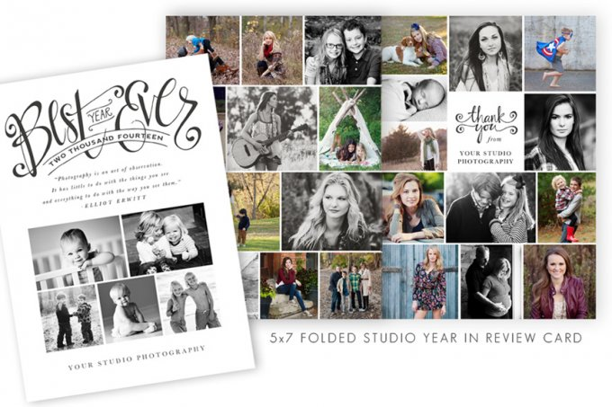 Studio Year in Review Card Template by Jamie Schultz Designs