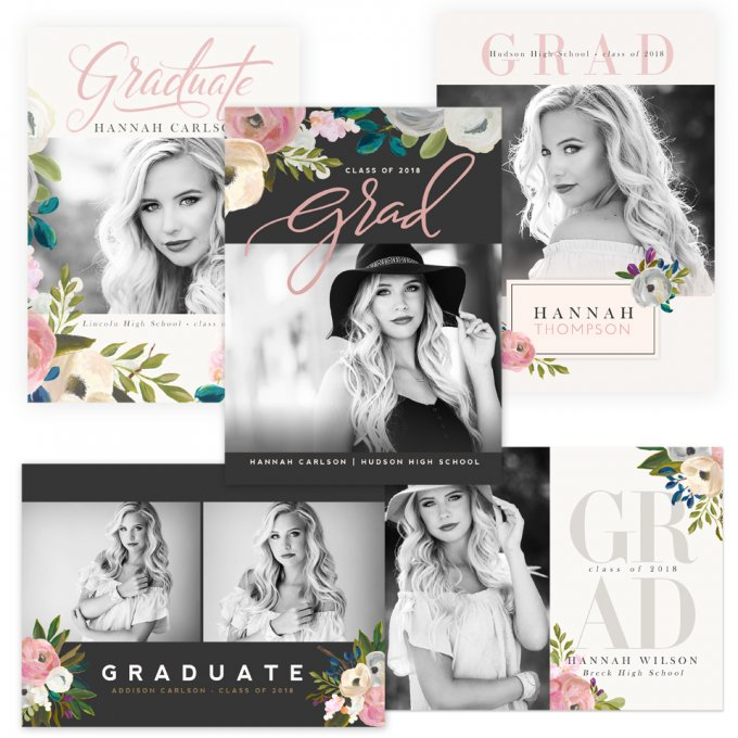 Bohemian Bloom Graduation Cards