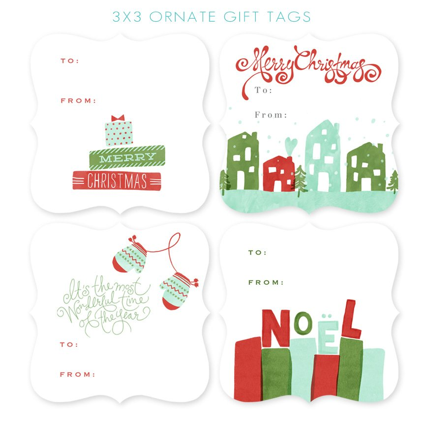 3x3 Ornate Gift Tags from Jamie Schultz Designs