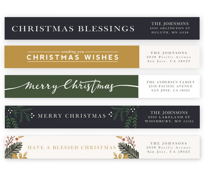 Christmas Spirit Address Labels