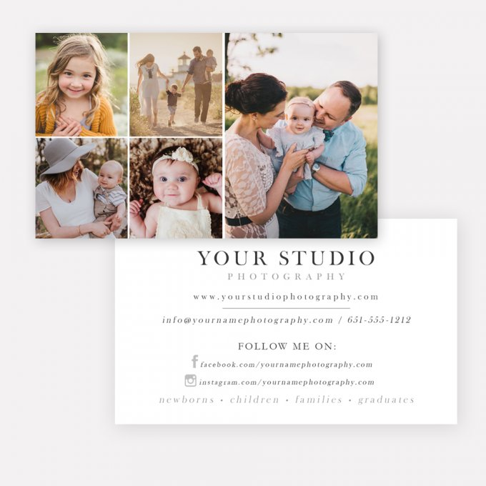 Photography Business Card Template by Jamie Schultz Designs