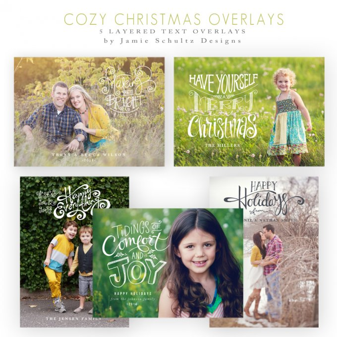 Cozy Christmas Overlays by Jamie Schultz Designs