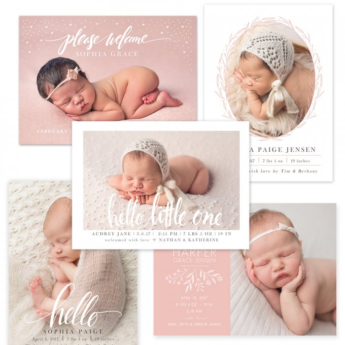 Sweet Hello Birth Announcements by Jamie Schultz Designs