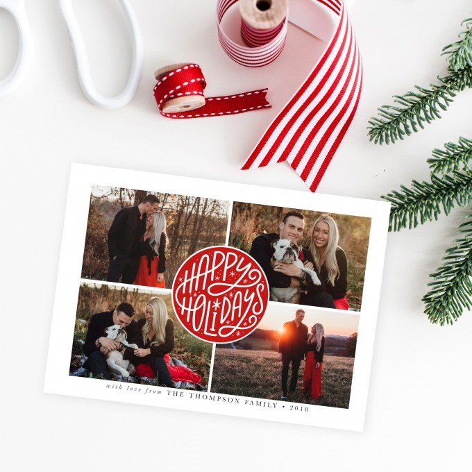 Christmas Card Templates by Jamie Schultz Designs