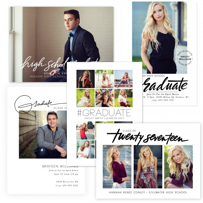 Minimalist Grad Card Templates by Jamie Schultz Designs