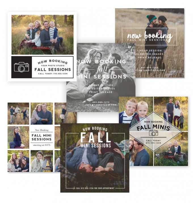 Fall Session Marketing Board Templates by Jamie Schultz Designs