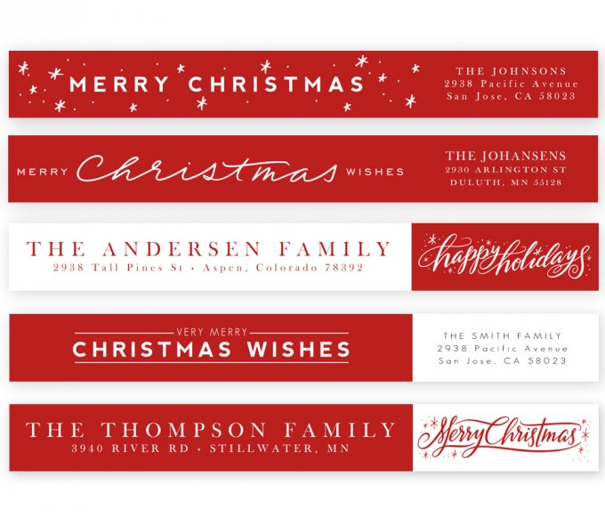 Festive Fun Address Labels