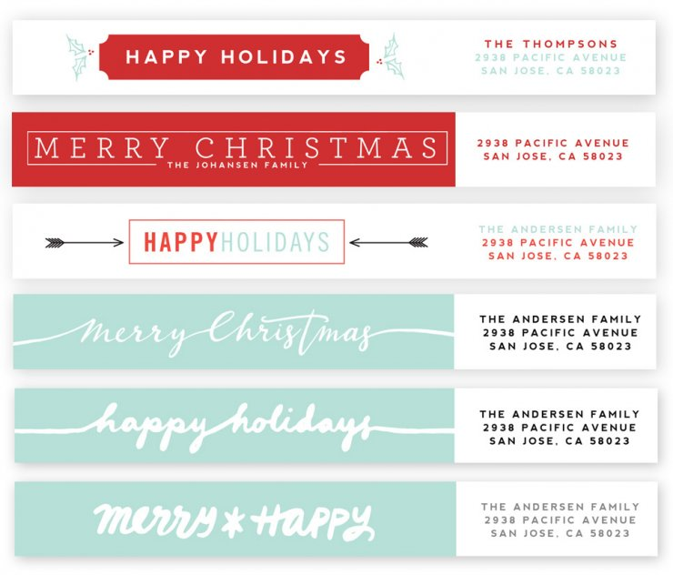 Holiday Highlights Address Labels