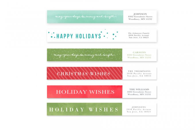 Holiday Wishes Card Templates by Jamie Schultz Designs