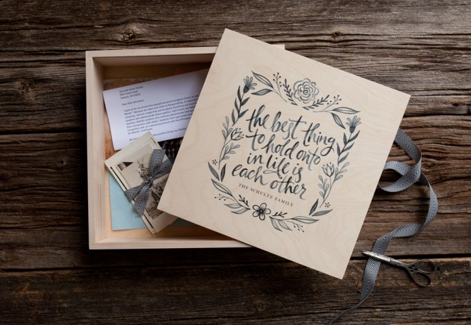 Wooden Album Box Template by Jamie Schultz Designs