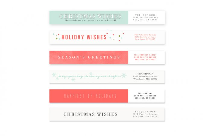 Joyfully Modern Templates and Address Labels by Jamie Schultz Designs