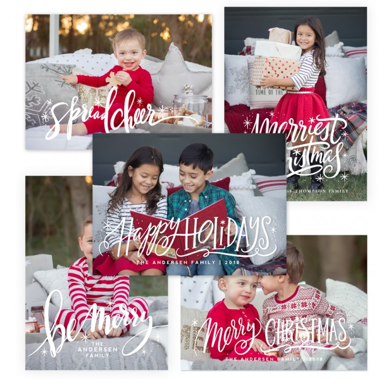 Merriest Christmas Photoshop Templates by Jamie Schultz Designs