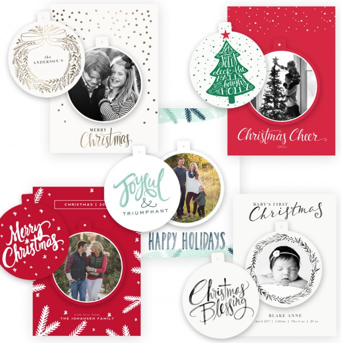 Merry Ornament Card Templates by Jamie Schultz Designs
