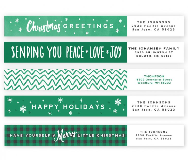 Merry Wishes Address Labels