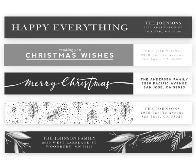 Modern Merriment Address Labels