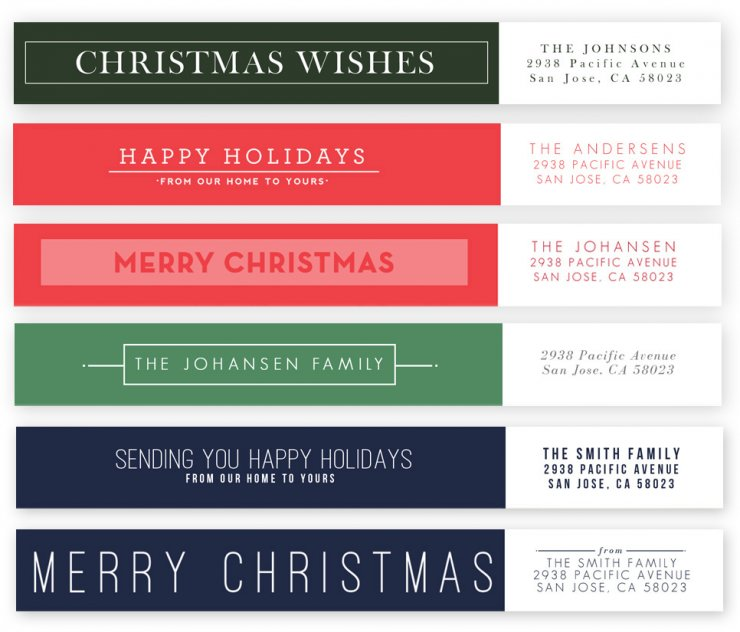 Merry and Modern Address Labels