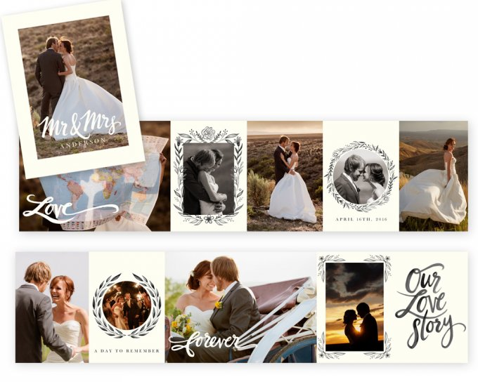 Wedding Mini Accordion Book Template by Jamie Schultz Designs