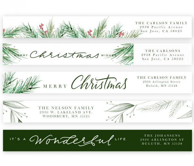 Painted Pines Address Labels