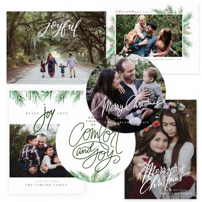 Painted Pines Holiday Card Templates