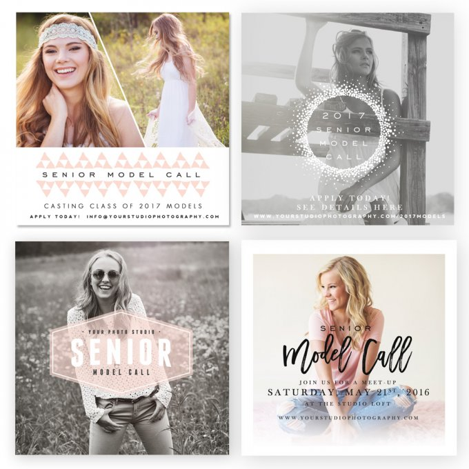 Snapshot Model Call Marketing Boards by Jamie Schultz Designs