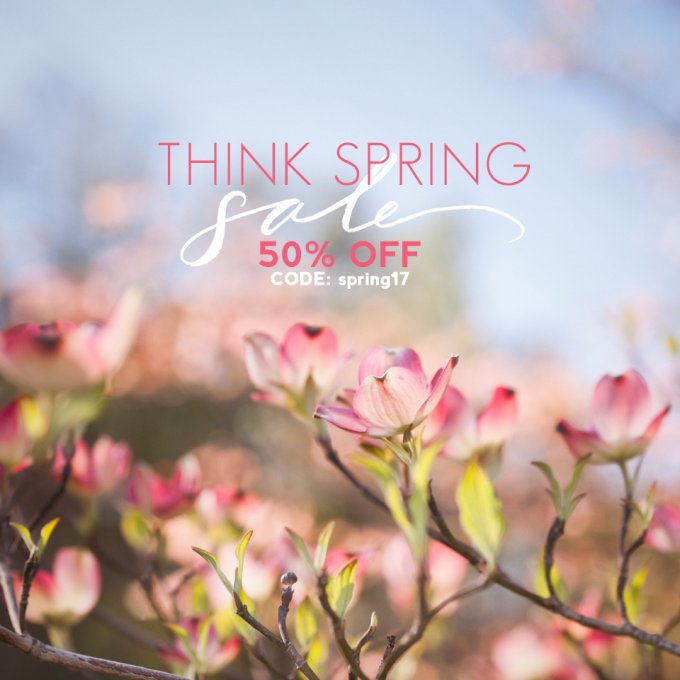 Think Spring Sale at Jamie Schultz Designs
