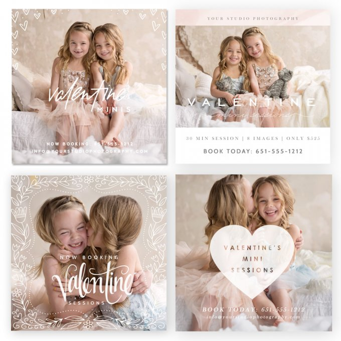 Valentine Marketing Board Templates by Jamie Schultz Designs