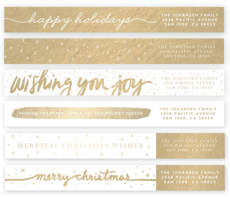 Winter Brush Address Labels