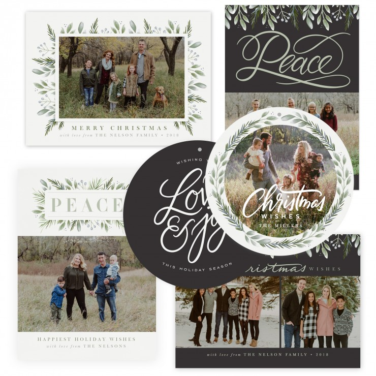 Winter Wonder Christmas Card Templates by Jamie Schultz Designs