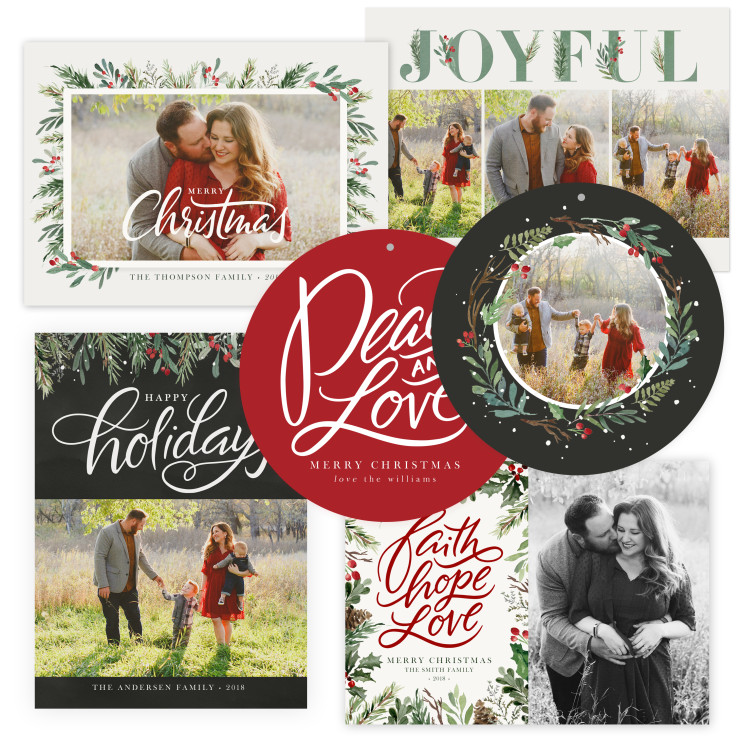 Winterberry Christmas Card Templates by Jamie Schultz Designs