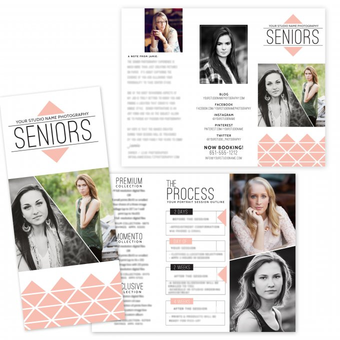 Geo Glam Senior Session Brochure