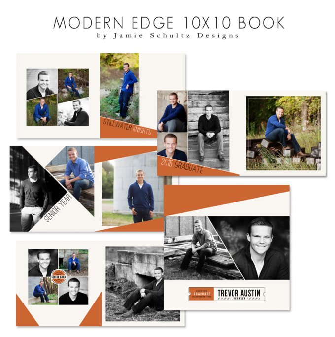 Modern Edge Book Template by Jamie Schultz Designs