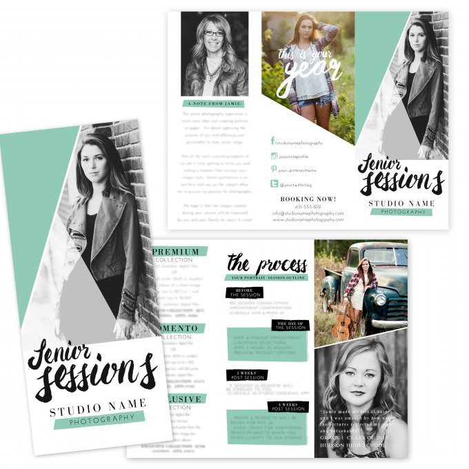 Senior Session Brochure Template by Jamie Schultz Designs